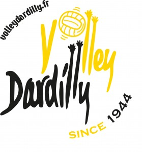 logo 2 volley noir et jaune since 1944